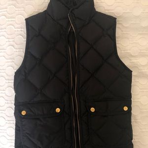 J Crew XXS Black Quilted Puffer Vest